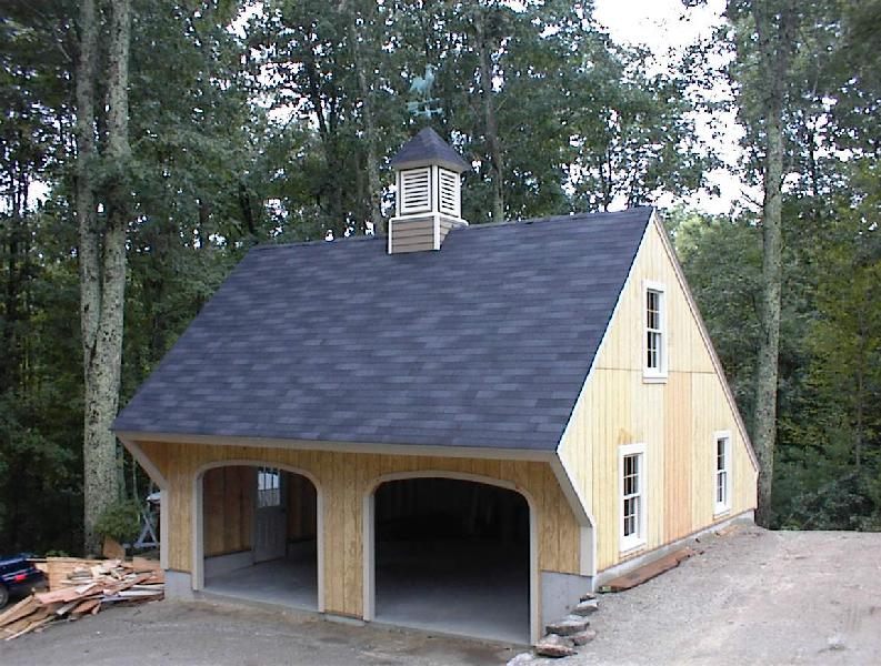 Garage plan construction images for Carriage house shed plans