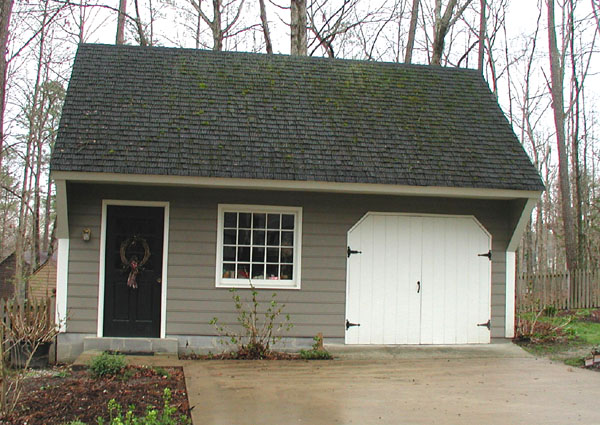 Carriage shed garage plan examples Small home plans with garage